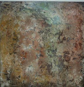 """toile """"struture et pigments"""" 60/60 115€,80/80 135€"""